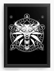 Quadro Decorativo A4 (33X24) Série The Witcher