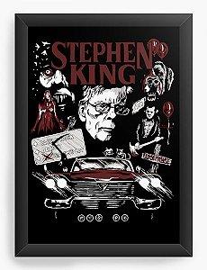 Quadro Decorativo A4 (33X24) Stephen King