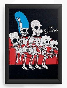 Quadro Decorativo A4 (33X24) The Simpsons