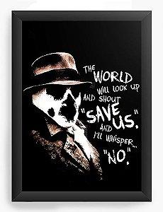 Quadro Decorativo A4 (33X24) Watchmen Rorschach