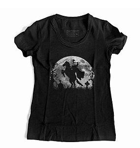Camiseta Feminina A Lenda do Cavaleiro Sem Cabeça