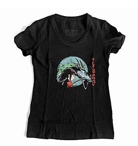 Camiseta Feminina Anime A Viagem de Chihiro Spirited Away