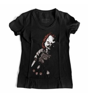 Camiseta Feminina Boneco Assassino