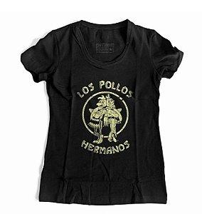 Camiseta Feminina Breaking Bad Los Pollos Hermanos Gus Fring Walter