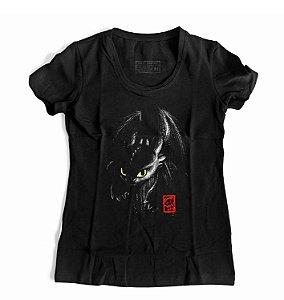 Camiseta Feminina Como treinar o seu Dragão