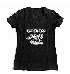 Camiseta Feminina CUPHEAD E MUMGMAN
