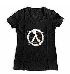Camiseta Feminina Glitch Half Life