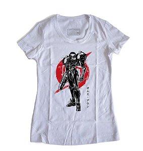 Camiseta Feminina Metroid Samus Aran