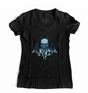 Camiseta Feminina Morcego Skull