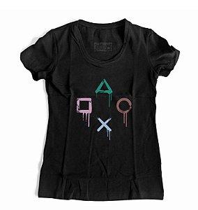 Camiseta Feminina PS controle