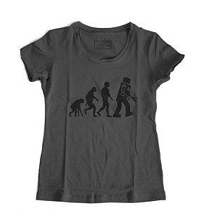 Camiseta Feminina Serie The Big Bang Theory  Evolution