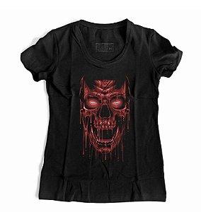 Camiseta Feminina Skull Blood