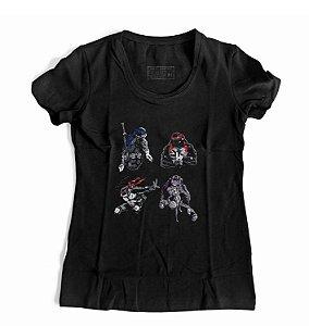 Camiseta Feminina Tartaruga Ninja