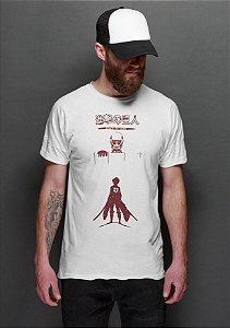 Camiseta Masculina Anime Attack On Titan