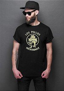 Camiseta Masculina Breaking Bad Los Pollos Hermanos Gus Fring Walter
