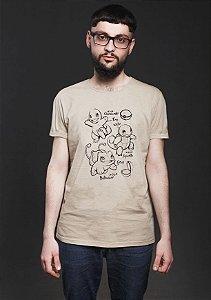 Camiseta Masculina Bulbasaur Charmander Pokemon