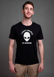 Camiseta Masculina Et I Don't Believe In Humans