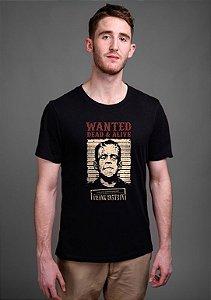 Camiseta Masculina Frankenstein, Wanted dead & alive