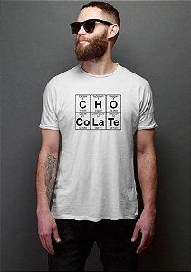 Camiseta Masculina Tabela Periódica Chocolate