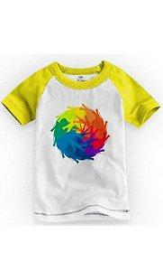 Camiseta Infantil Elefante Colorido - Nerd e Geek - Presentes Criativos