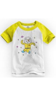 Camiseta Infantil Space Cat - Nerd e Geek - Presentes Criativos