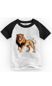 Camiseta Infantil Lion - Nerd e Geek - Presentes Criativos