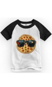 Camiseta Infantil Pizza Stayle - Nerd e Geek - Presentes Criativos