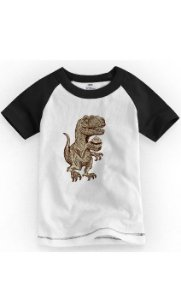 Camiseta Infantil Dinossauro - Nerd e Geek - Presentes Criativos