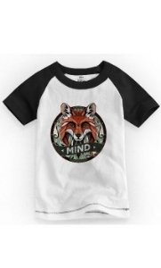 Camiseta Infantil Mind Raposa - Nerd e Geek - Presentes Criativos