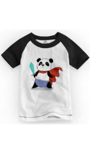 Camiseta Infantil Panda Heroi - Nerd e Geek - Presentes Criativos