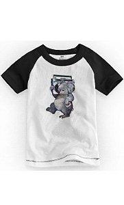 Camiseta Infantil Coala Som - Nerd e Geek - Presentes Criativos