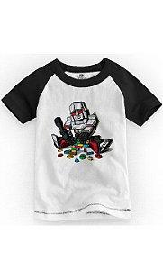 Camiseta Infantil Robo Lego - Nerd e Geek - Presentes Criativos