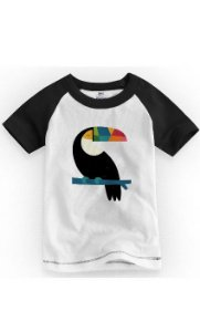 Camiseta Infantil Tucano Colors - Nerd e Geek - Presentes Criativos