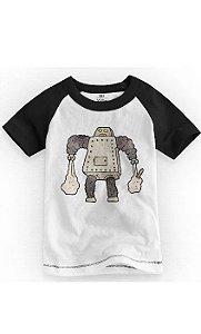 Camiseta Infantil Robô Tin - Nerd e Geek - Presentes Criativos