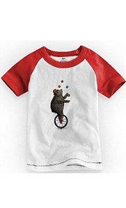 Camiseta Infantil Urso Malabarista - Nerd e Geek - Presentes Criativos
