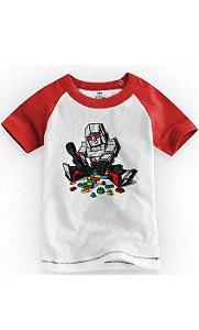Camiseta Infantil Robô Red