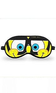 Máscara de Dormir Bob Esponja de Oculos - Nerd e Geek - Presentes Criativos
