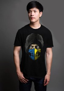 Camiseta Masculina  Scorpion Mortal Kombat - Nerd e Geek - Presentes Criativos