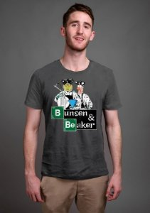 Camiseta Masculina  Bunsen & Beaker - Nerd e Geek - Presentes Criativos
