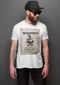 Camiseta Masculina  Wanted - Nerd e Geek - Presentes Criativos