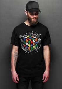 Camiseta Masculina  Cubo Mágico - Nerd e Geek - Presentes Criativos