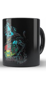 Caneca Metroid and Monster - Nerd e Geek - Presentes Criativos