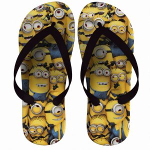 Chinelo Minions Happy - Nerd e Geek - Presentes Criativos