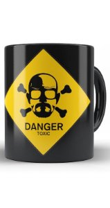 Caneca Breaking Bad Danger Toxic - Nerd e Geek - Presentes Criativos