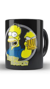 Caneca Simpson Beer Baron - Nerd e Geek - Presentes Criativos