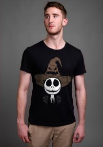Camiseta Masculina  Jack Skellington - Nerd e Geek - Presentes Criativos