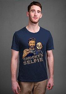 Camiseta Masculina  Chucky Selfie - Nerd e Geek - Presentes Criativos