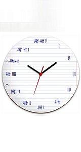 Relógio de Parede Marcação à mão - Nerd e Geek - Presentes Criativos