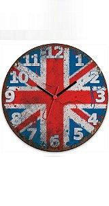 Relógio de Parede UK Reino Unido - Nerd e Geek - Presentes Criativos