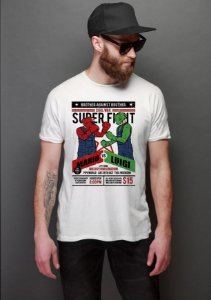 Camiseta Masculina  Mario vs Luigi - Nerd e Geek - Presentes Criativos